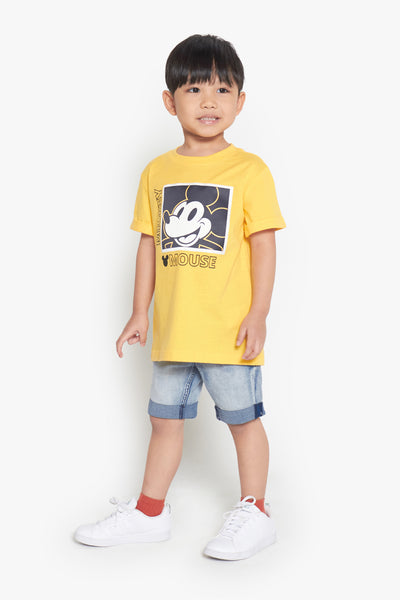 FOX Kid Boy Vintage Mickey Printed Tee