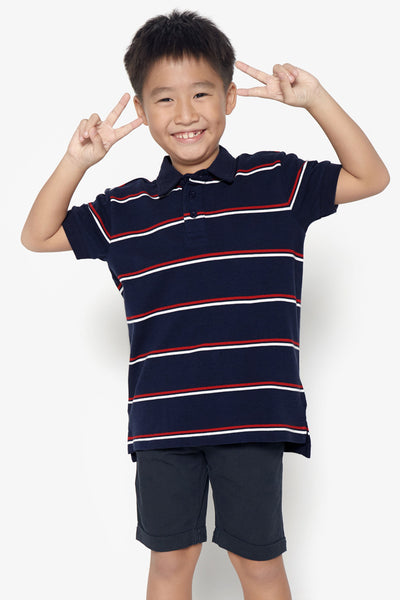 FOX KIDS Boy Striped Polo Tee
