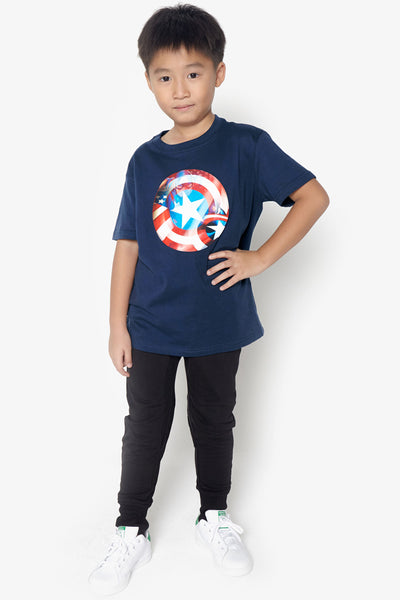 FOX KIDS Boy Lenticular Captain America Shield Tee