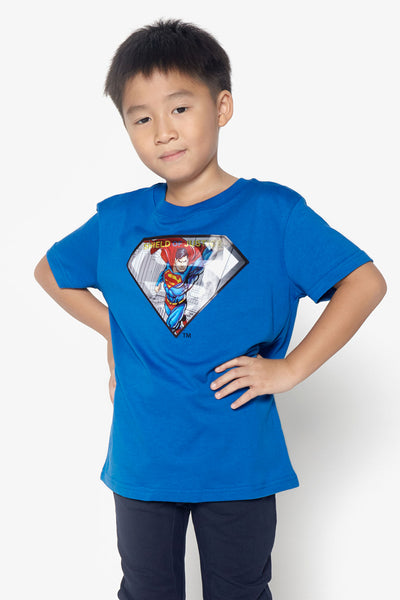 FOX KIDS Boy Lenticular Superman Logo Tee