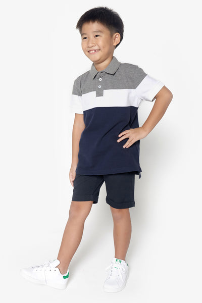 FOX KIDS Boy Colourblock Polo Tee