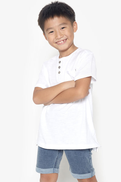 FOX KIDS Boy Pocket Detail Henley Tee