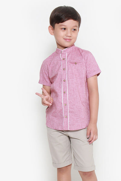 FOX KIDS Boy Mandarin Collar Button Up Shirt