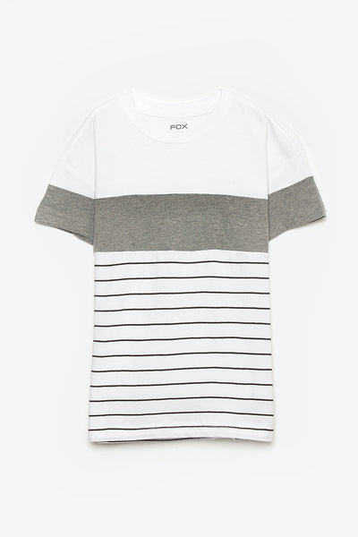 FOX KIDS Boy Casual Colourblock and Stripes Tee