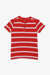 FOX KIDS Boy Casual Plain Colour Henley Tee