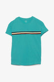 Cotton Tee with Stripe Detail