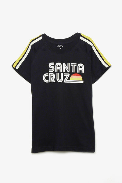 FOX KIDS Boy Santa Cruz Tee with Side-Stripes Sleeve