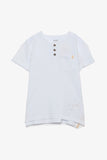 FOX KIDS Boy Short Sleeve Striped Henley Tee