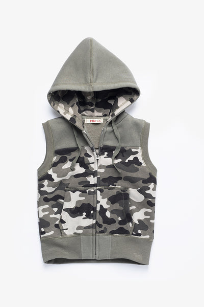 FOX BABY Boy Hooded Jersey Vest