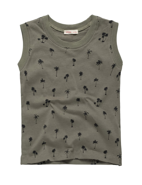 All Over Palm Tree Print Tank