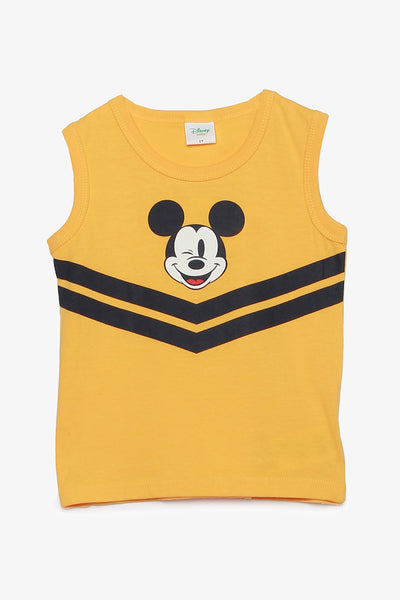 FOX BABY Boy Sporty Mickey Mouse Tank Top