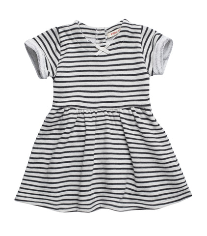 Stripe Cotton Blend Dress
