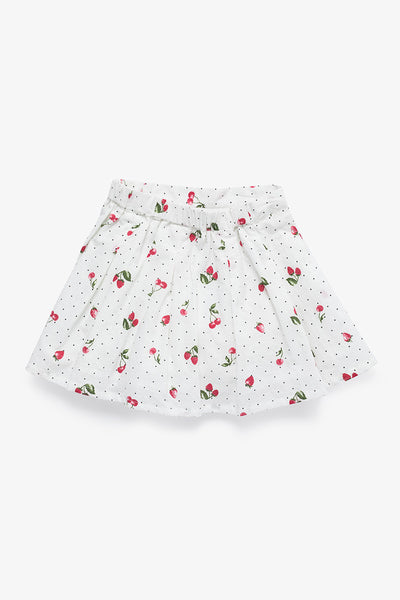 FOX BABY Girl Printed Polka Dot Skirt