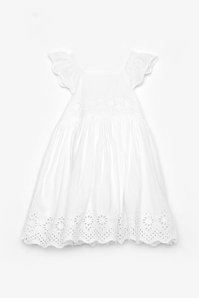 Eyelet Dress with Embroidery