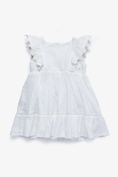 FOX BABY Girl Cotton Dress with Embroidery