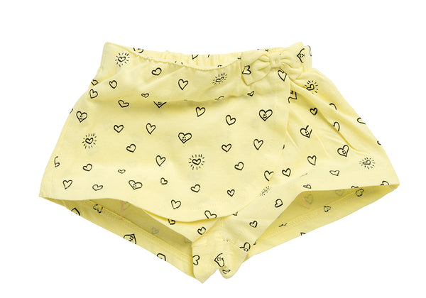 Printed Skort with Bow detail