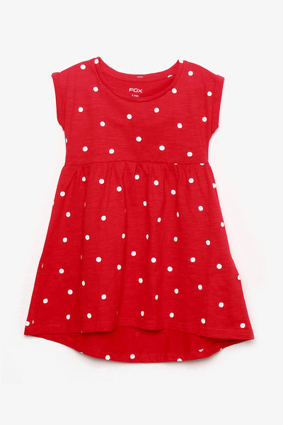 FOX BABY Girl Polka Dots Jersey Dress