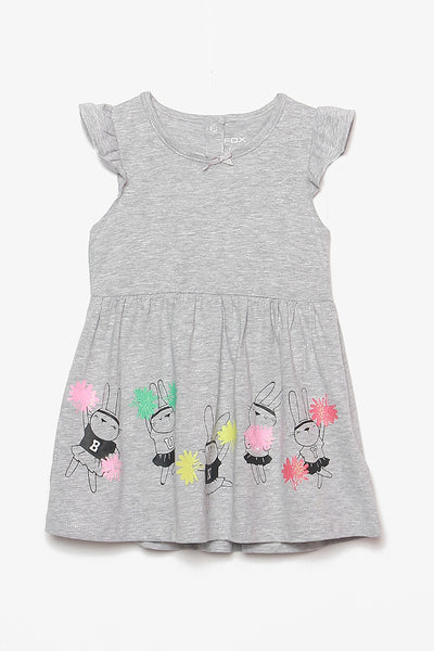 FOX BABY Girl Bunny Print Dress