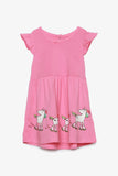 FOX BABY Girl Unicorn Skater Dress