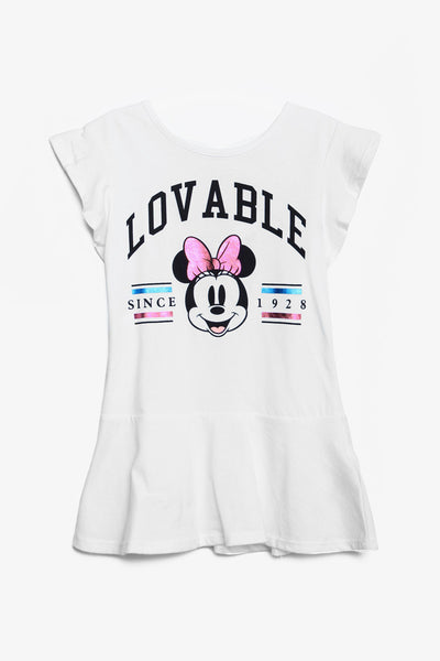 FOX BABY Girl Minnie Mouse Print Jersey Dress