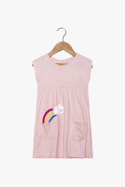 FOX NEWBORN & BABY Twin Pocket Jersey Dress