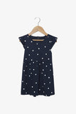 FOX Newborn & Baby Flutter Sleeve Polka Dot Dress
