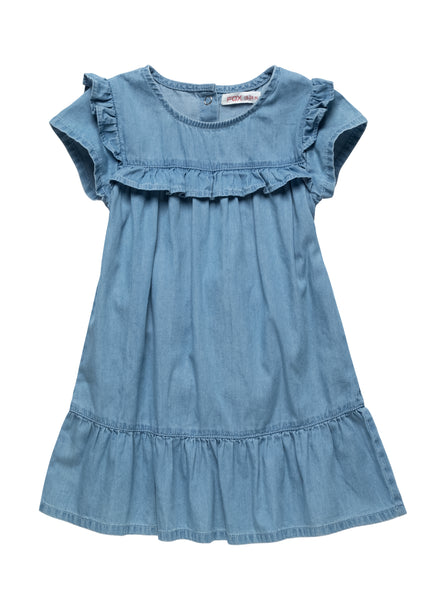 Frilly Denim Dress