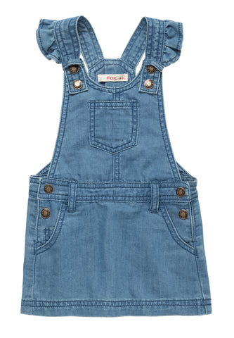 Frilly Dungaree Dress