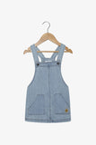 FOX NEWBORN & BABY Embroidered Dungaree Dress