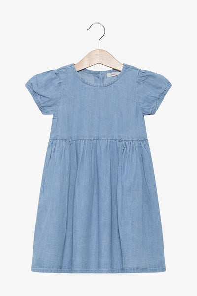FOX BABY Girl Denim Button-Up Back Dress