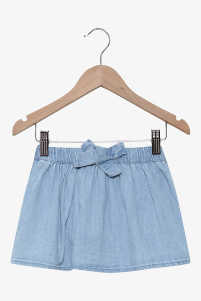 FOX BABY Girl Denim Ribbon Skirt