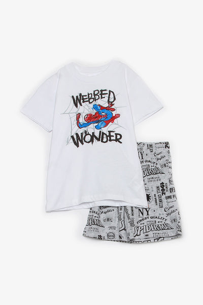 FOX KIDS Boy Two-Piece Spiderman Set