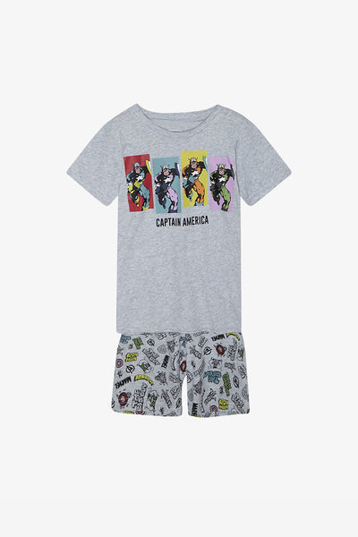 FOX Kid Boy 2-Piece Captain America Pyjama Set