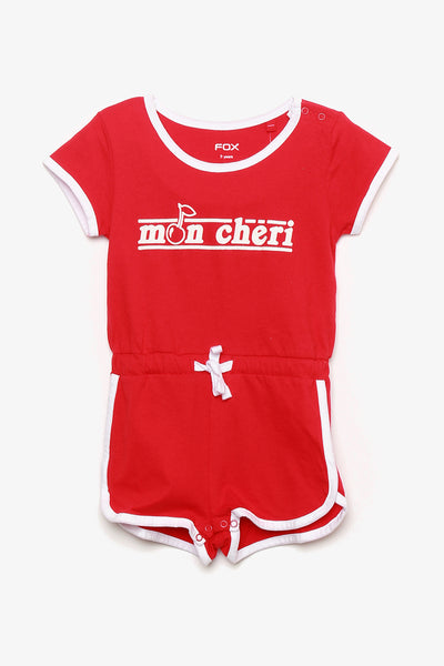 FOX BABY Girl Athleisure Jersey Playsuit
