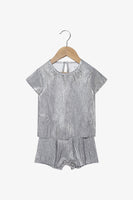 FOX Newborn & Baby Short Sleeve Metallic Romper