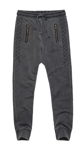 Cuffed Pants with Zipper Pocket