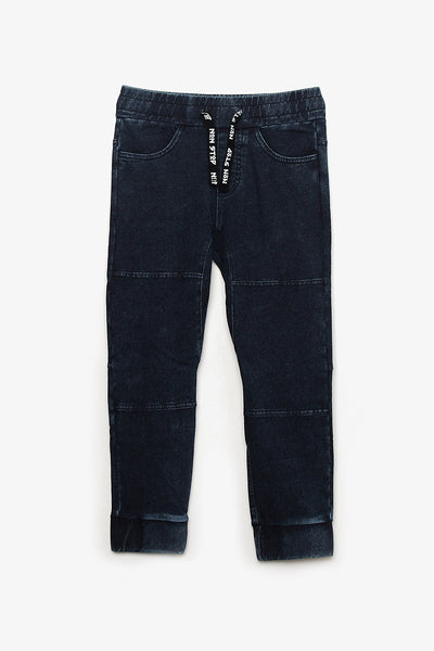 Drawstring Denim Pants