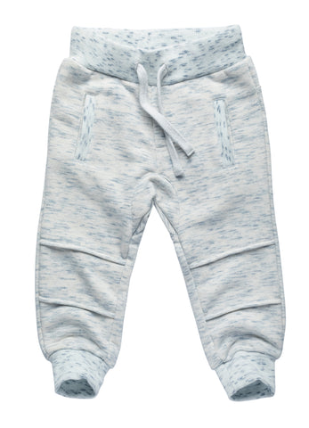 Cuffed Joggers with Knee Details