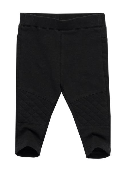 Cotton Blend Leggings with Knee Details