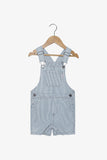 FOX NEWBORN & BABY Denim Pinstripe Dungaree
