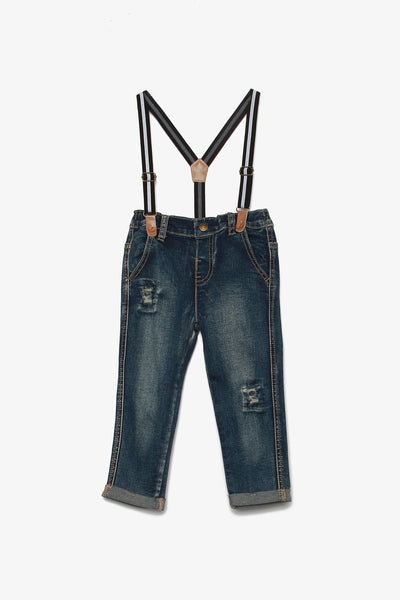 Denim Jeans with Suspenders