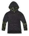 Hooded Sweater with Camouflage details