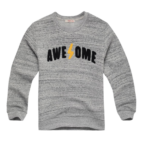 Textured Sweatshirt with Text