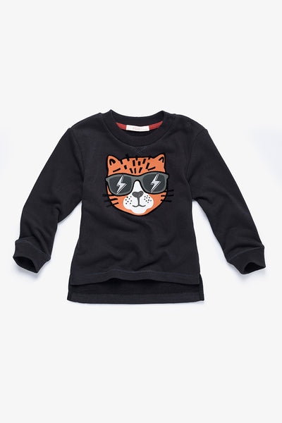 FOX BABY Boy Asymmetrical Hem Sweater
