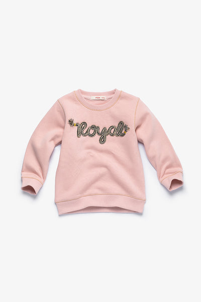 FOX BABY Girl Sweater with Embroidery