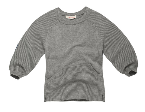 Textured Kangaroo Pocket Sweatshirt