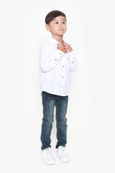 FOX KIDS Boy Button Up White Shirt