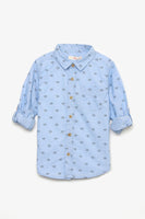FOX BABY Boy Origami Boats Print Shirt