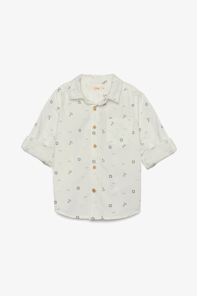FOX BABY Boy Nautical Print Shirt