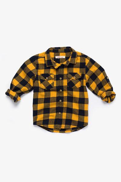 FOX BABY Boy Plaid Cotton Shirt